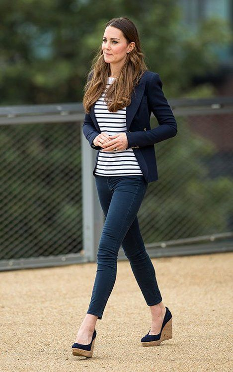 Kate Middleton in Striped Perfection