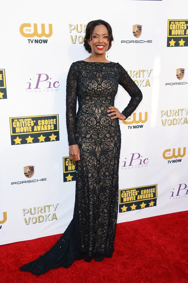 Aisha Tyler - 2014 Critics' Choice Movie Awards - Tadashi Shoji