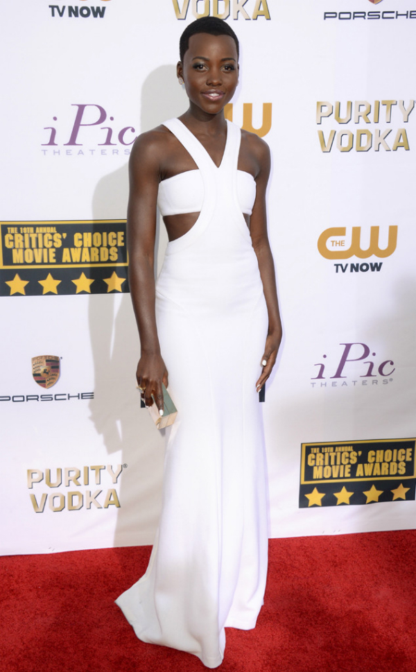 Lupita Nyong'o in Calvin Klein - 2014 Critics' Choice Movie Awards