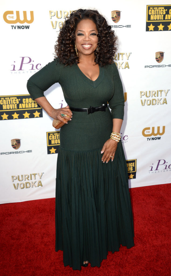 Oprah Winfrey in Azzedine Alaia - 2014 Critics' Choice Movie Awards