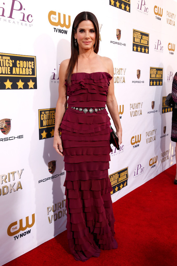 Sandra Bullock in Lanvin - 2014 Critics' Choice Movie Awards
