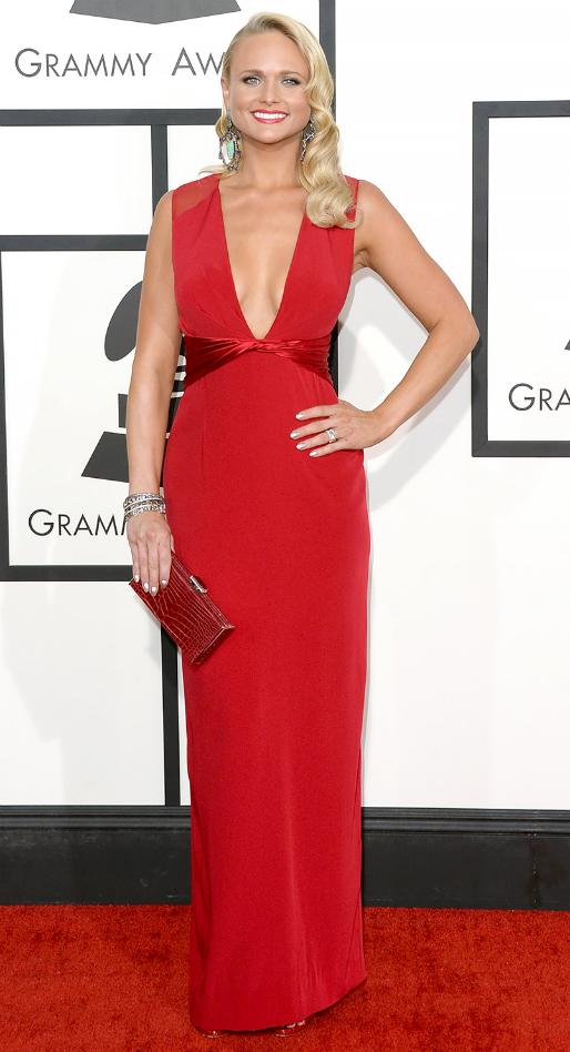Miranda Lambert in Pamella Roland - 2014 Grammy Awards #GRAMMYs