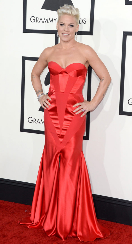 Pink in Johanna Johnson - 2014 Grammy Awards #GRAMMYs