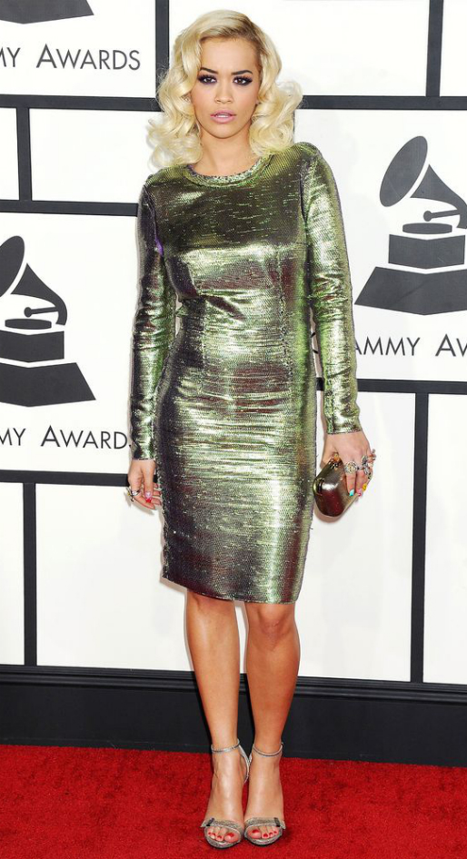 Rita Ora in Lanvin - 2014 Grammy Awards #GRAMMYs
