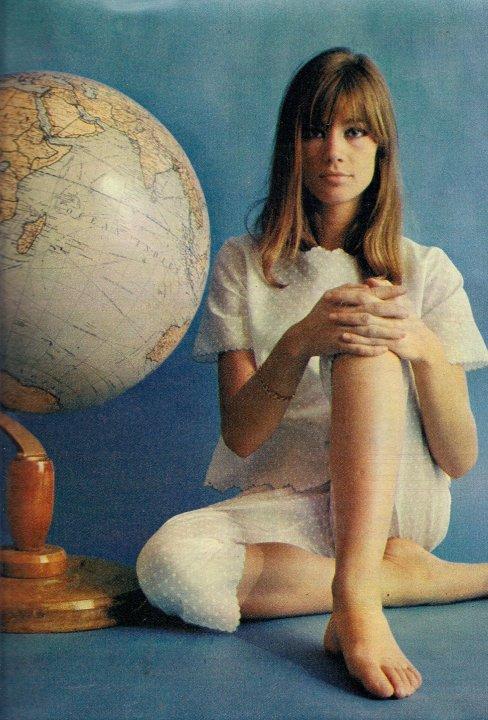 Francoise Hardy with Globe