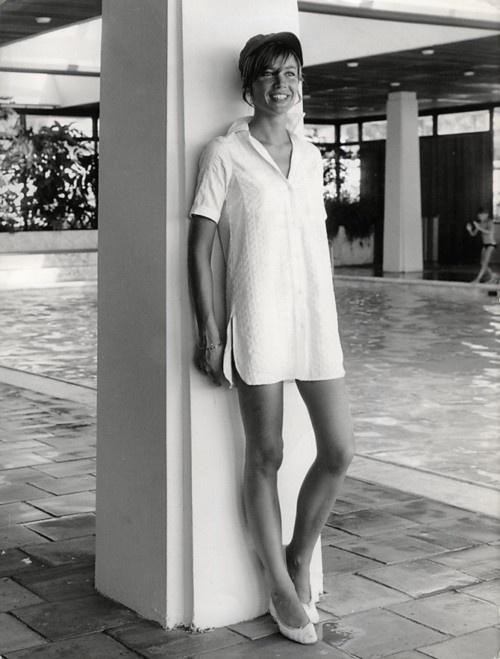 Francoise Hardy White Shirtdress