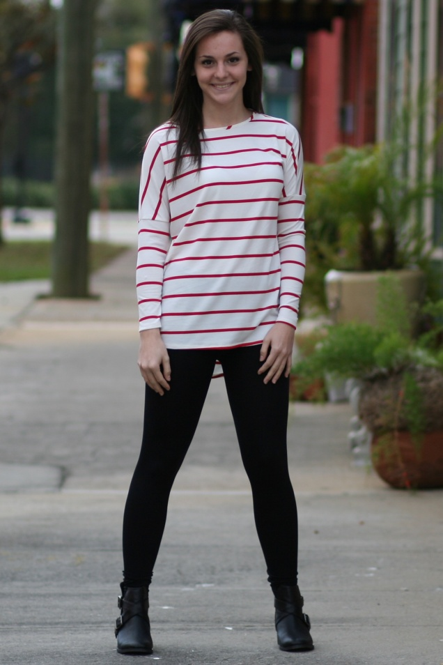 Red Stripe Tunic Top - Wild Souls