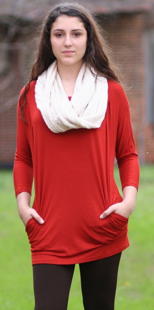 Rust Dolman Sleeve Tunic with Pockets - Wild Souls - shopwildsouls.com