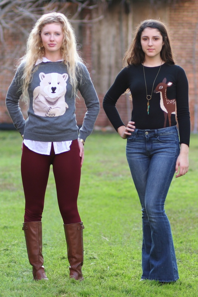Animal Critter Sweaters Polar Bear Deer