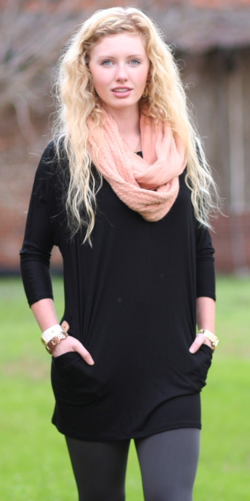 Black Dolman Sleeve Tunic with Pockets - Wild Souls - shopwildsouls.com
