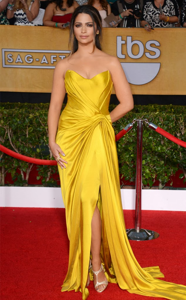 Camila Alves in vintage Donna Karan - SAG Awards 2014