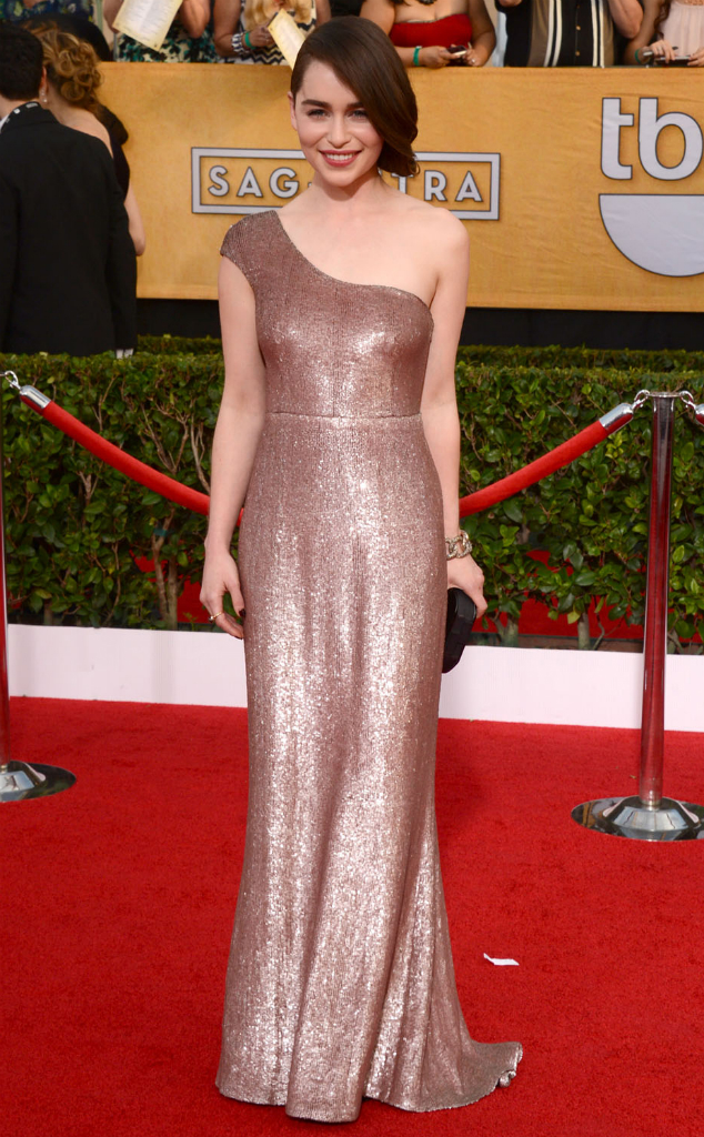 Emilia Clarke in Calvin Klein Collection - SAG Awards 2014