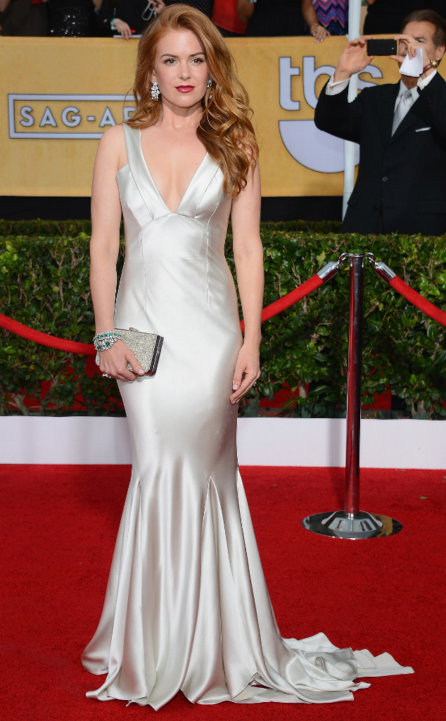 Isla Fisher in Oscar De La Renta - SAG Awards 2014