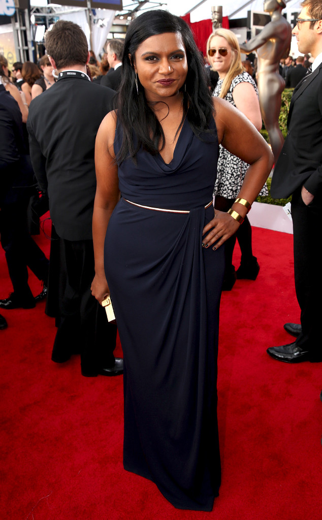 Mindy Kaling in David Meister - SAG Awards 2014
