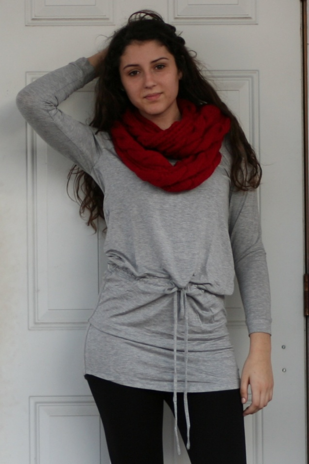 Heather Grey Drawstring Waist Tunic - Wild Souls - shopwildsouls.com