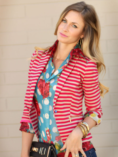 Mixed Prints - Floral Polka Dots Stripes - runningonhappiness.com