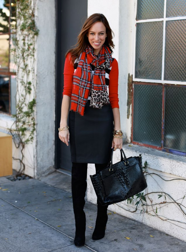 Mixed Prints - Plaid Leopard Stripes Leather - sydnestyle.com