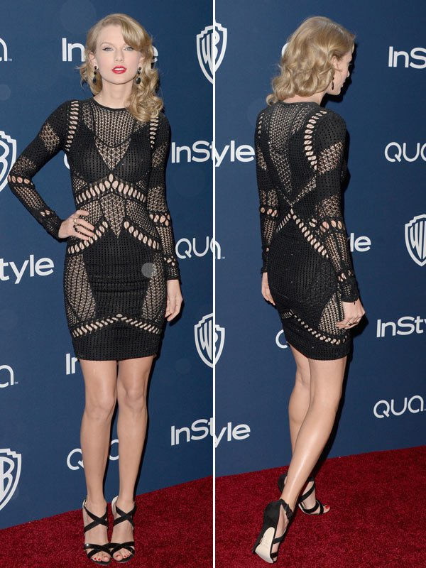 Taylor Swift in Julien MacDonald - Golden Globes InStyle After Party