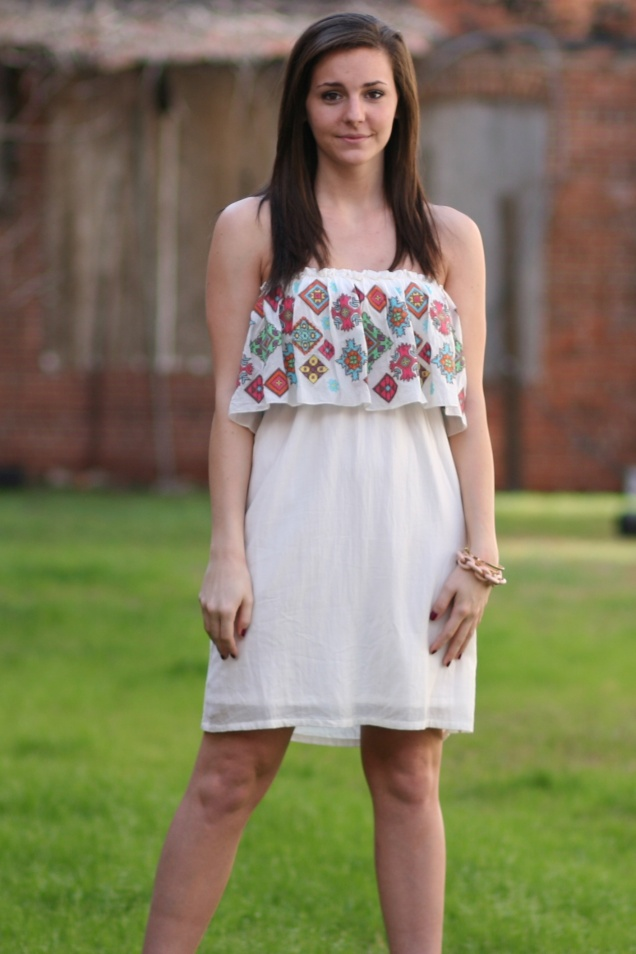 Wild Souls - Judith March Embroidered Cream Dress - shopwildsouls.com