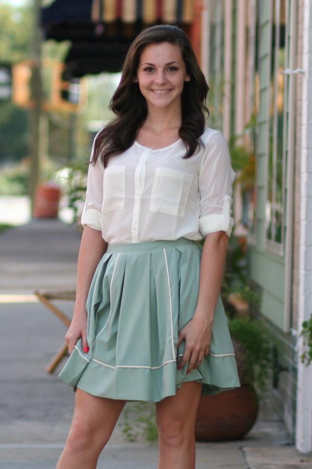 Ivory Blouse & Sage Skirt @ shopwildsouls.com