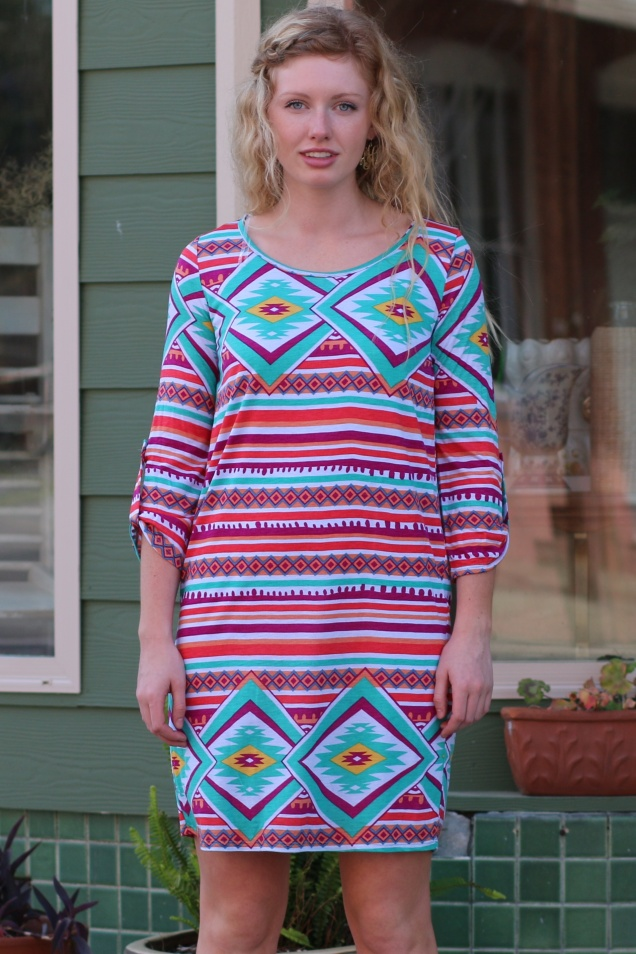 Wild Souls - Southwestern Stripes Dress - shopwildsouls.com