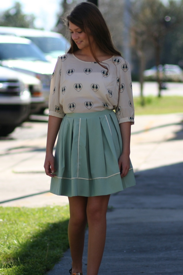 Wild Souls - Ducky Love Blouse & Sage Skirts - shopwildsouls.com