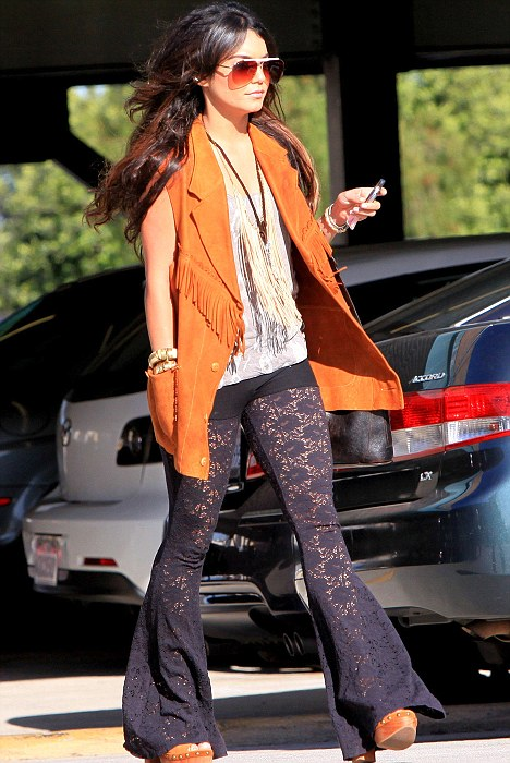 Vanessa Hudgens in Lace Pants - The Street Mode