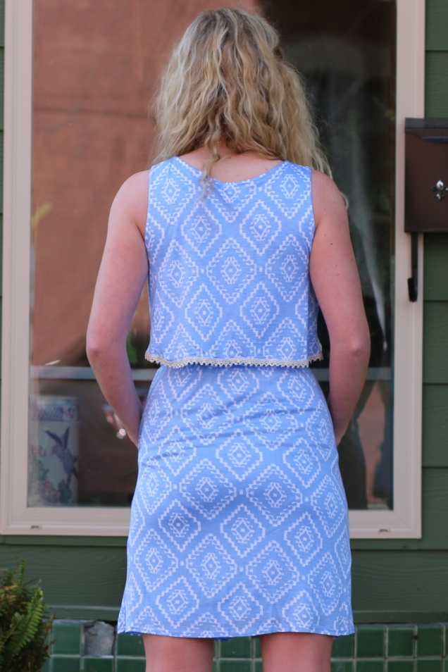 Wild Souls - Powder Blue Aztec Print Dress w/ Pockets - shopwildsouls.com