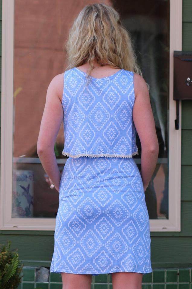Wild Souls - Powder Blue Aztec Print Dress w/ Pockets - shopwildsouls.com