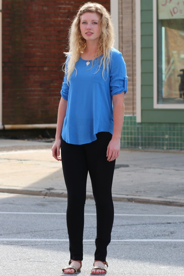 Wild Souls - Cerulean Blue Top w/ Tails & Black Paneled Pixie Pants - shopwildsouls.com