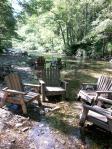 Adirondacks in the river