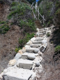 "The ""Stairs"" down to the beach"