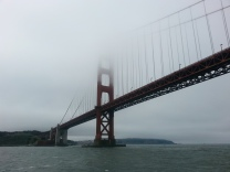 Foggy side of the Golden Gate Bridge
