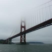 Foggy side of the Golden Gate Bridge