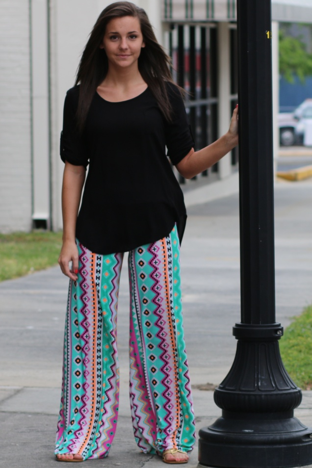 Wild Souls - Native Striped Palazzo Pants