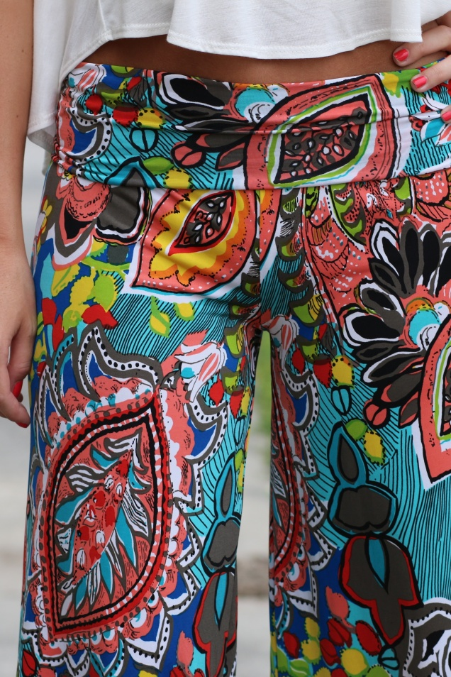 Big Sur Floral Print Palazzo Pants - shopwildsouls.com
