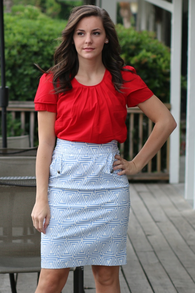 Wild Souls - Tulip Top & Triangle Pencil Skirt - shopwildsouls.com