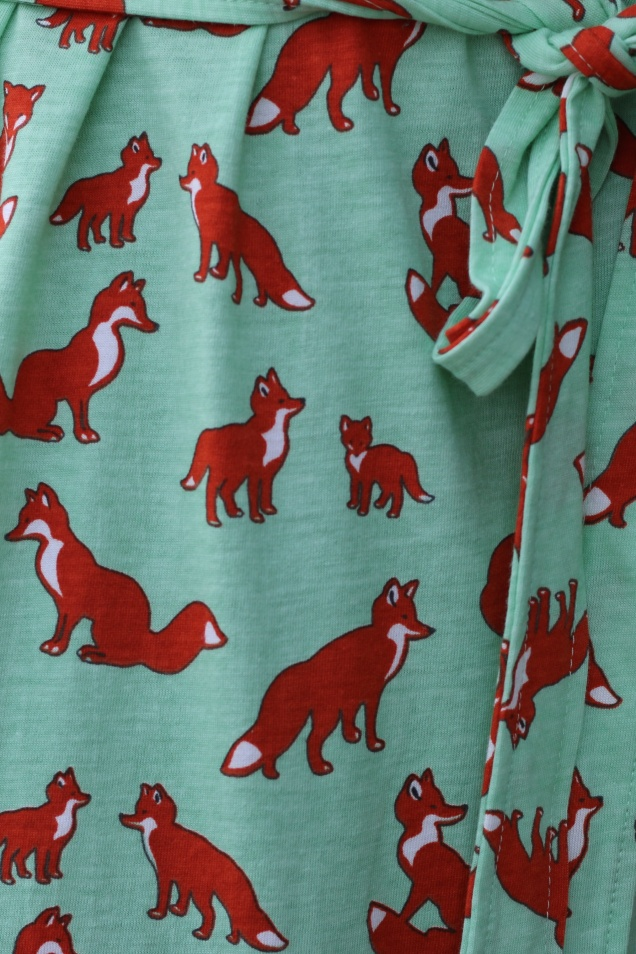 Wild Souls - What the Fox Says T-shirt Dress in Pistachio - shopwildsouls.com