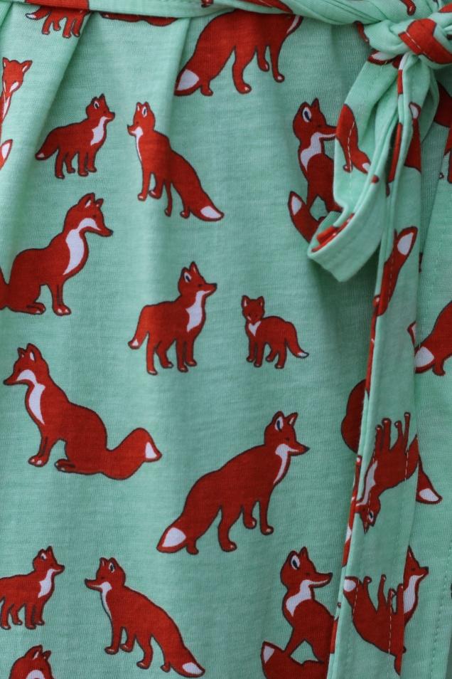 Wild Souls - What the Fox Says T-shirt Dress in Pistachio - shopwildsouls.com