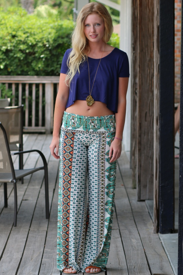 Wild Souls - Haight-Ashbury Palazzo Pants, Crop Top, Druzy Crystal Necklace - shopwildsouls.com