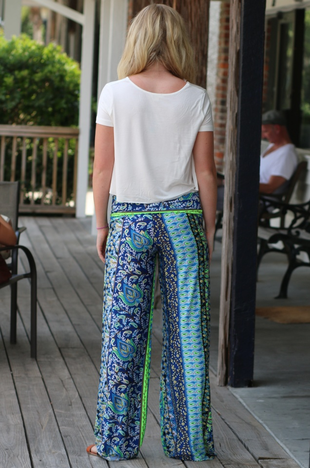 Wild Souls: Longwood Palazzo Pants, Crop Top, & Nautilus Shell Necklace