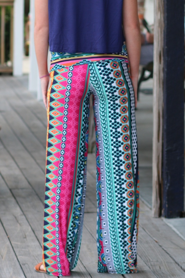 River Walk Palazzo Pants, Perfect Crop Top, & Rainbow Rock Necklace