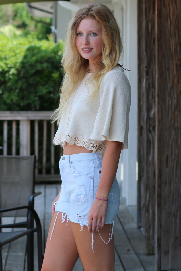 Wild Souls - Crop Top, Cutoffs, & Crystal Necklace