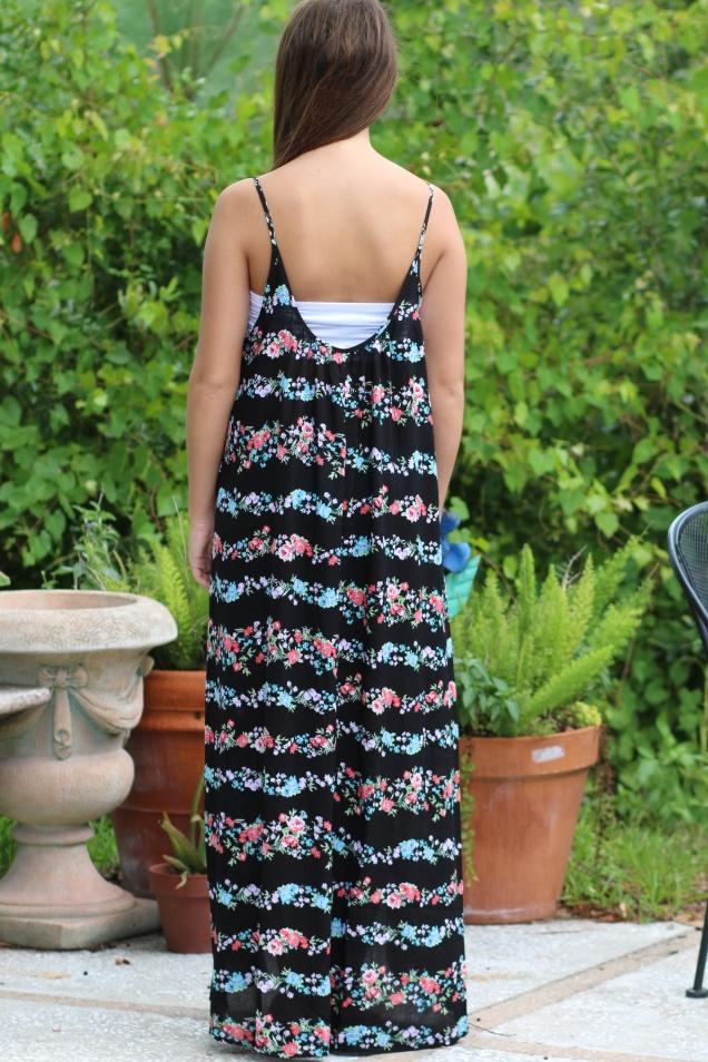 Wild Souls - Bohemian Trapeze Style Floral Hi-low Maxi Dress - shopwildsouls.com