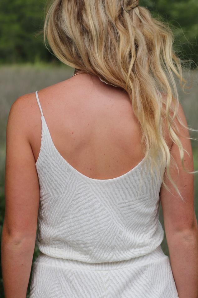 Wild Souls - White Textured Knit Romper - shopwildsouls.com