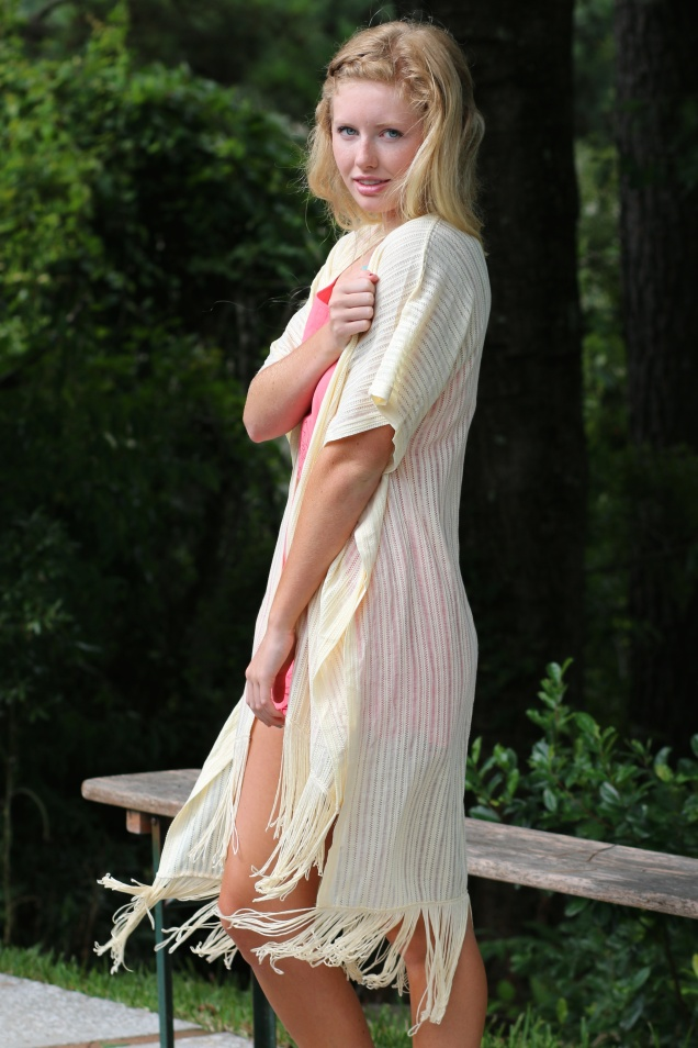 Wild Souls - Coral Embroidered Romper and Fringe Kimono in Almond - shopwildsouls.com