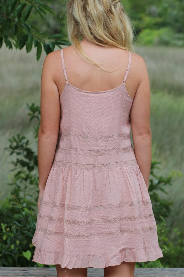 Wild Souls - Rose Pink Polka Dot Swing Dress - shopwildsouls.com