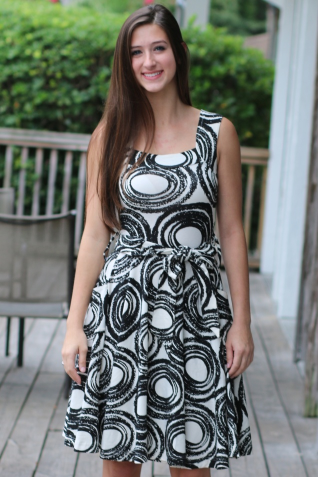 Wild Souls - Effie's Heart Dolce Vita Dress in Black & Cream Mod Print - shopwildsouls.com