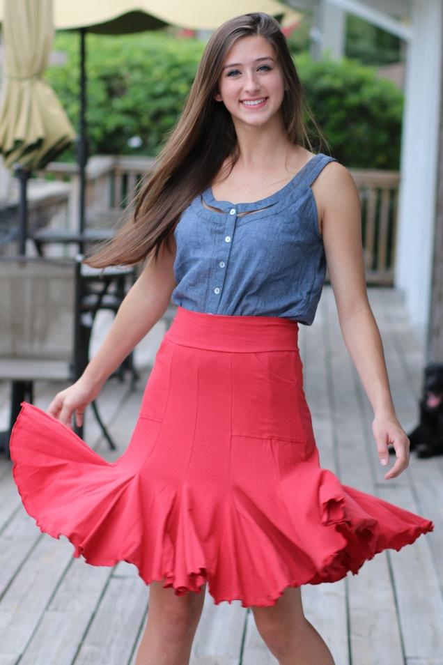 Wild Souls - Effie's Heart 7 Year Skirt in Gazpacho Red - shopwildsouls.com