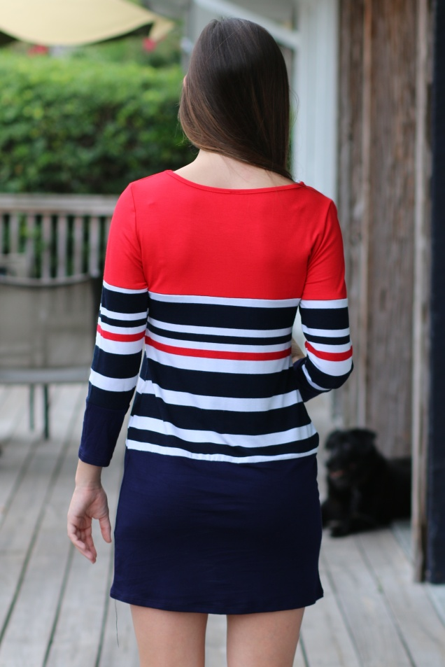 Wild Souls - Navy & Red Striped Tunic Dress - www.shopwildsouls.com